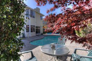 Backyard with pool, spa and gazebo